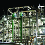 Figure 1. Enzymes play a key role in the production of cellulosic ethanol. First industrial- scale plants are now coming onstream, such as this one in Crescentino, Italy