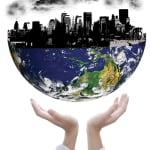 globes business hands