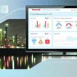 Figure 1.  The Honeywell Industrial Cyber Security Risk Manager specifically proactively monitors, measures and manages cybersecurity risk for industrial plants and systems