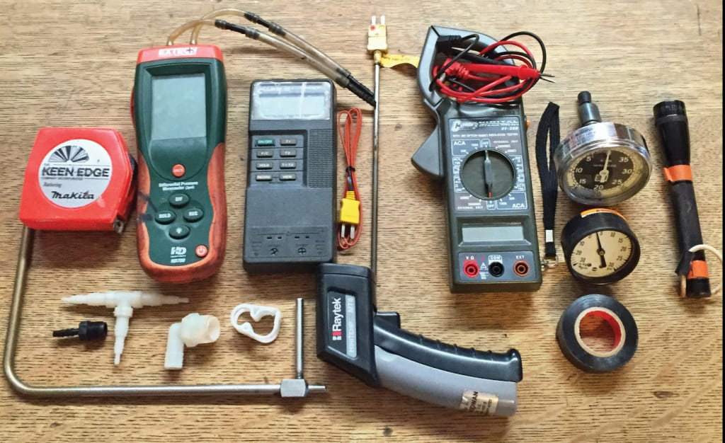Figure 1. Troubleshooting may require a variety of test equipment — some typical items are shown here
