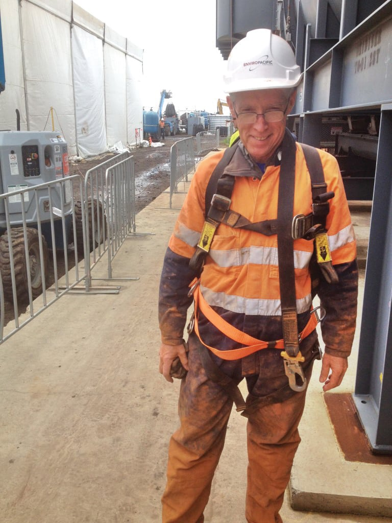 Figure 7. Be willing to get dirty for confined space entry inspections