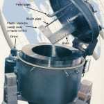 FIGURE 2.  Shown here is a vertical basket centrifuge (Credit: Western States)