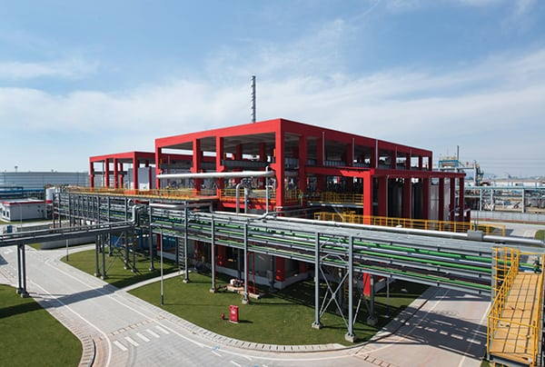 Figure 1. Lanxess recently employed a new production technique for yellow-red pigments at a site in Ningbo, China
