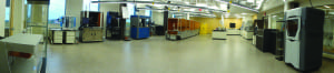 Figure 6.  Part of the RIT AM Print Center, where research on next-generation 3D printing is ongoing