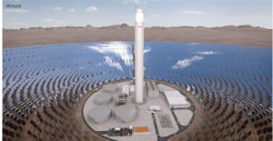 Figure 3. Abengoa is developing South America's first CSP plant in Chile. The plant will use an advanced storage system enabling it to generate electricity for up to 17.5 h without direct solar radiation