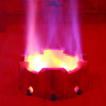Figure 1.  The COOLstar burner applies internal fluegas recirculation and fuel staging, which results in stable, compact flames and low NOx emissions