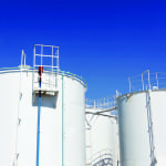 Figure 1.  Storage tanks are a common sight at petroleum refineries and petrochemical plants
