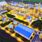 Figure 1. This facility in Tatarstan, Russia has a nameplate capacity of 2,050 m.t./d of ammonia in a single train, and can be operated to co-produce up to 668 m.t./d of methanol and 1,382 m.t./d of ammonia using Haldor Topsoe's IMAP Ammonia process