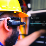 Figure 2.  The benefit of wearable technology, such as smart glasses, is that their hands are now free so workers can keep their hands and eyes on the tasks at hand. This provides increased productivity, improved safety and better efficiency in activities throughout the facility and in hazardous situations