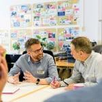 Figure 2.  Rainer Gimbel (left) and Jeff Landau (right) are digital strategists in Evonik's newly formed digitalization subsidiary, Evonik Digital GmbH