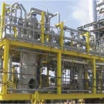 FIGURE 1.  This photo shows a fluegas-conditioning module, which is part of a large process plant that was fully fabricated in a local shop in the Middle East to achieve the desired schedule