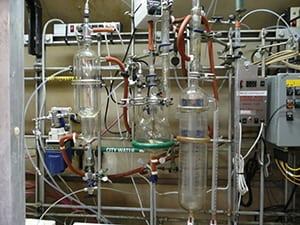 FIGURE 5.  Laboratory settings typically have multiple sources of spills and nearby ignition sources, so relying on the hood alone for spill containment is usually not sufficient