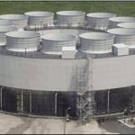 Figure 3.  Shown here is a round mechanical draft cooling tower