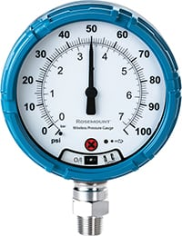 Figure 2.  Rosemount's Wireless Pressure Gauge features up to 150 times overpressure protection and two layers of process isolation, providing a safer installation Rosemount/Emerson