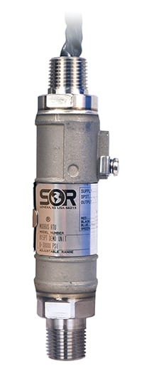 Figure 5.  SOR's 815PT Smart Pressure Transmitter is a rugged, compact, loop-powered instrument suitable for hazardous locations and hostile environments  SOR