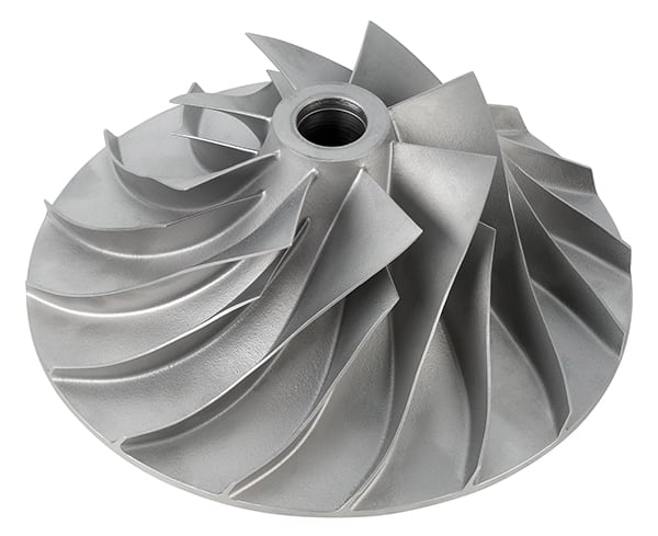 FIGURE 3. In dynamic compressors, an impeller rotates rapidly to accelerate air to a high velocity