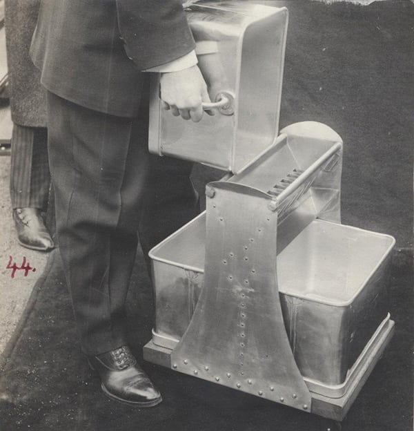 Figure 4.  The Jones-type riffler sampling device, and its variants, were mentioned in several ASTM standards. The photo is from Ref. 7.