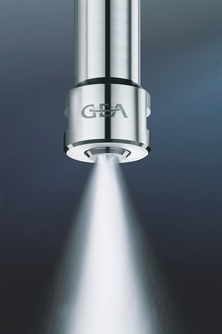 FIGURE 1. New nozzles developed specifically for spray-drying processes that handle lithium help to achieve the narrow particle-size range required for battery-grade products  GEA