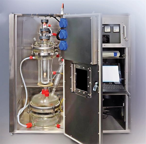 Figure 4. Laboratory-scale units can be used for the investigation and optimization of the specificity and rate of a photochemical process