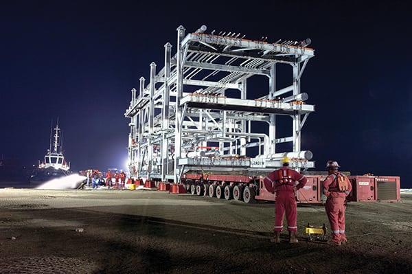 Figure 4.  Fluor used modular execution while building Dow's ethylene production facility in Freeport, Texas Fluor