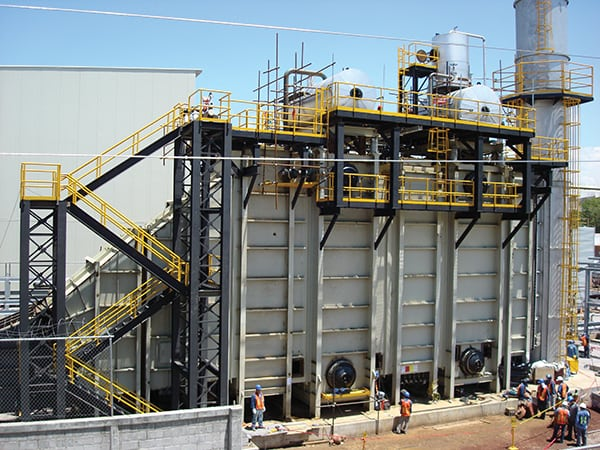 Figure 1. Shown here is a modular heat-recovery steam generator (HRSG) system at a chemical manufacturing facility