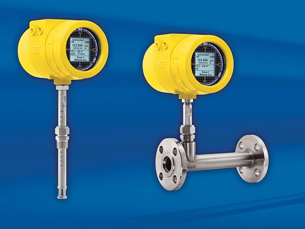 FIGURE 7. Inline (right) and insertion-style (left) flowmeters require different installation considerations, and one method may be preferred depending on specific process needs