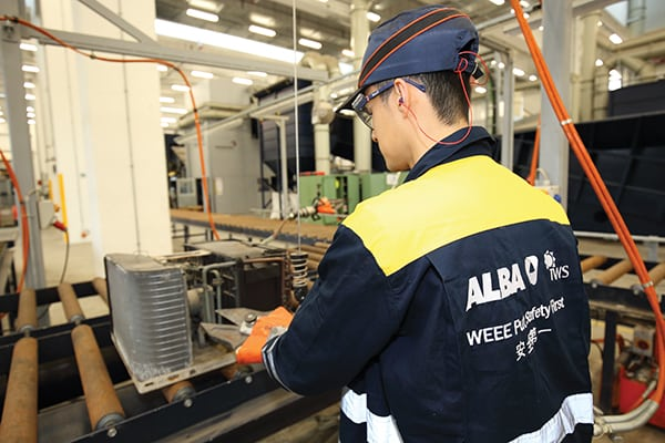 Figure 3.  The new recycling facility in Hong Kong is said to be the largest of its kind in the world Alba Group