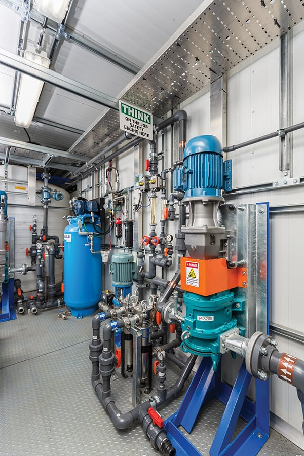 Figure 3. Specialized injection equipment helps to ensure the longterm integrity of polymers used for enhanced oil recovery Kemira