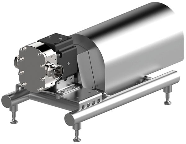 Figure 3.  The Hilge Novalobe 60 was designed for pumping and dosing highly viscous media, also with large particles. The new Novalobe can pump larger quantities at low speeds while ensuring that emulsions and sensitive materials do not separate during pumping GEA