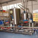 Figure 1. A brewing method based on controlled hydrodynamic cavitation could save energy and time in the brewing process