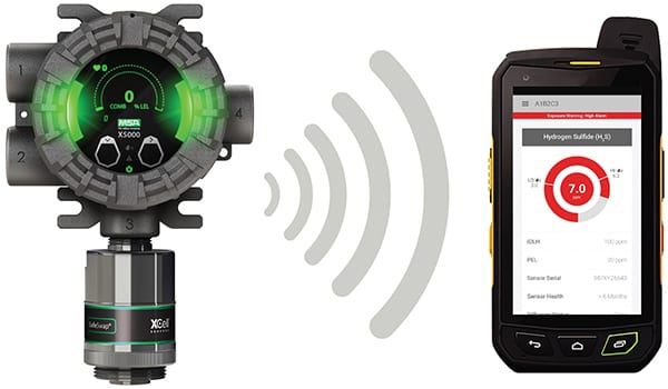 Figure 4.  MSA offers the X/S Connect app with Bluetooth-enabled fixed gas detectors, allowing users to securely connect their devices to the detectors so they can be quickly configured MSA