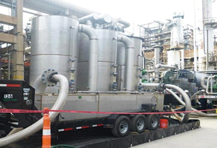 FIGURE 4. Portable liquid H2S scrubbers can be employed during turnarounds to remove toxic acid gases that pose environmental issues